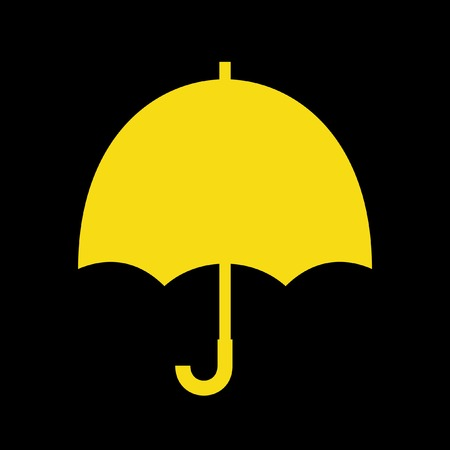 Yellow umbrella Vector