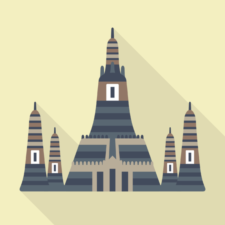 wat arun: Wat Arun, Bangkok Illustration