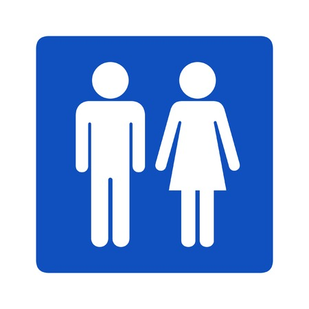 washroom: Toilet sign