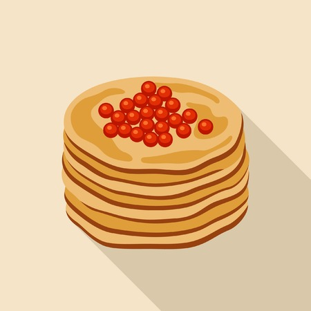 caviar: pancakes with red caviar