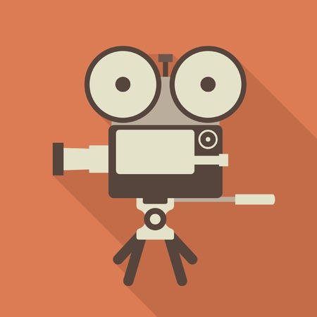 Cinema camera vector icon Vector