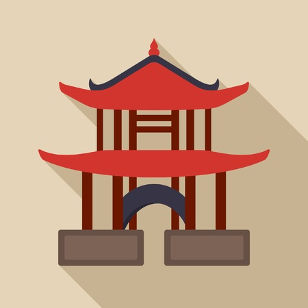 chinese pagoda: Chinese pagoda vector icon Illustration