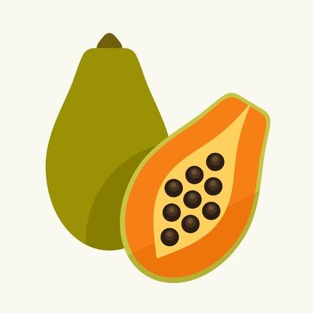 papaya: papaya fruits