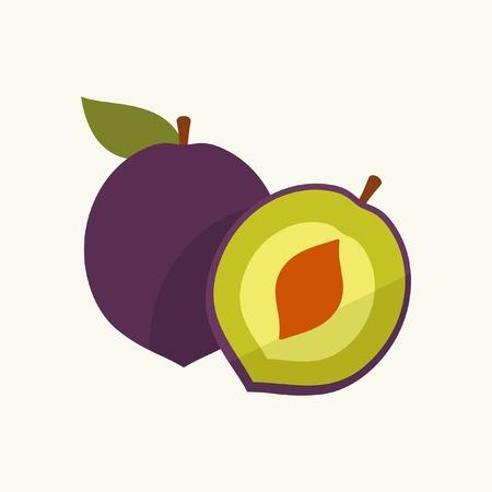 plum: Icon plum