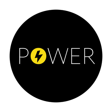 amperage: Power symbol Illustration