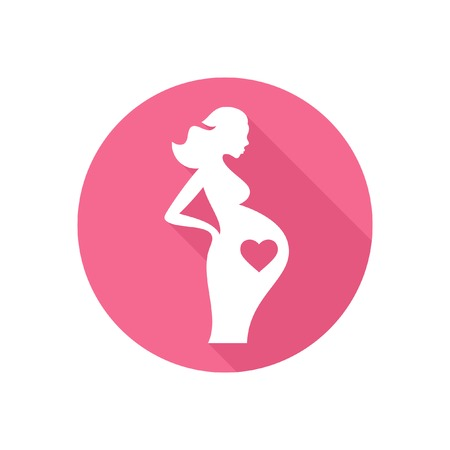 awaiting: Pregnant woman icon