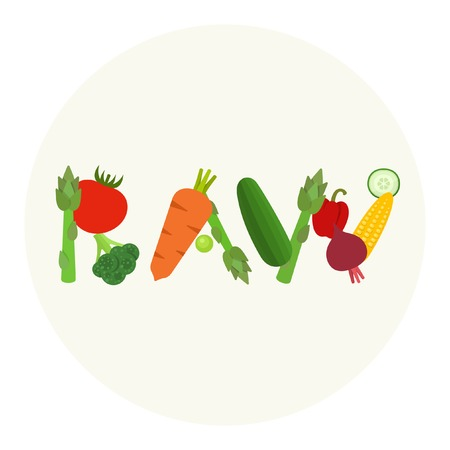 raw food: Raw Food vector illustration Illustration