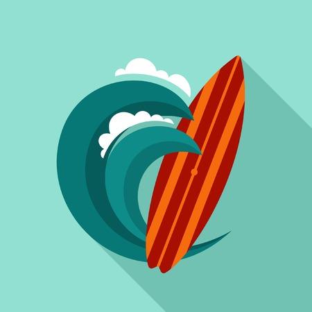Surfing vector illustration