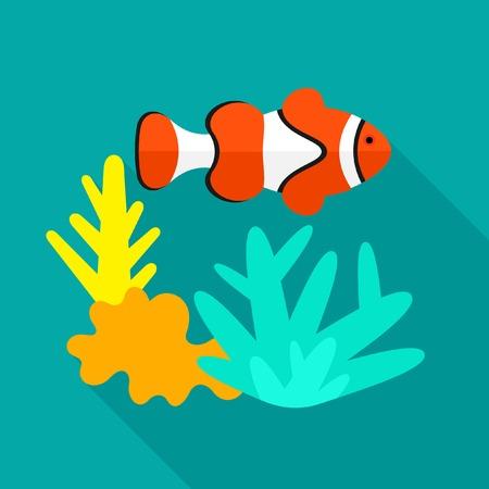 deep sea diver: Underwater icon Illustration