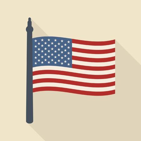 Us flag vector icon