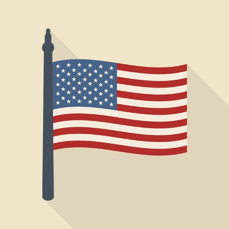 the shaft: Us flag vector icon