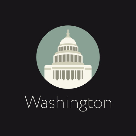 capitol hill: Washington icon Illustration
