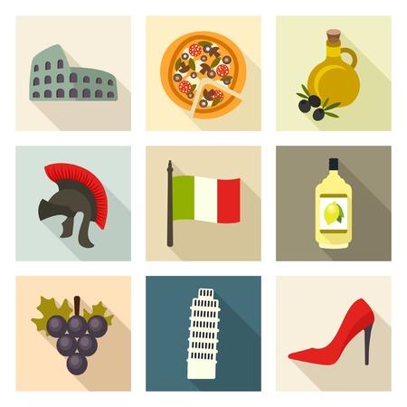 italian flag: Iconos de Italia