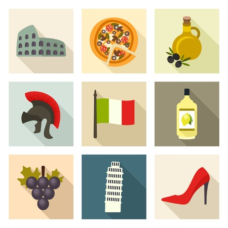 Italy icons Stock Vector - 40243390