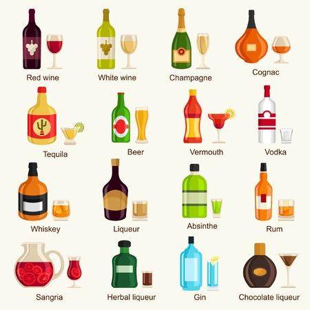 Alcohol dranken Stock Illustratie