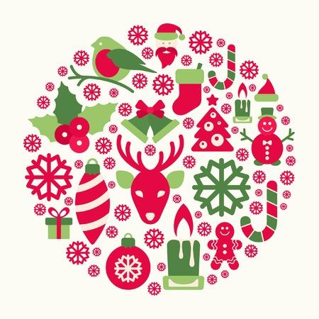 クリスマスの飾り  イラスト・ベクター素材