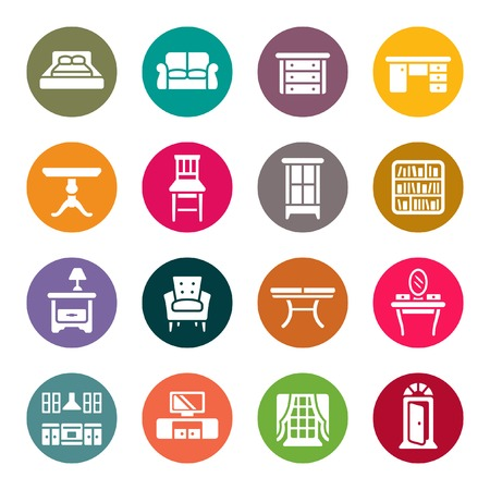 Furniture icon set Stock Vector - 40243412