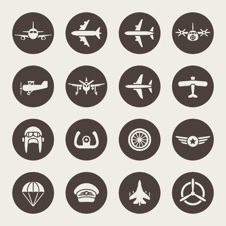 piloto: Aviaci�n conjunto de iconos