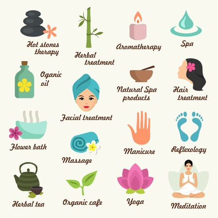 reflexologie: Spa concept mod�le Illustration