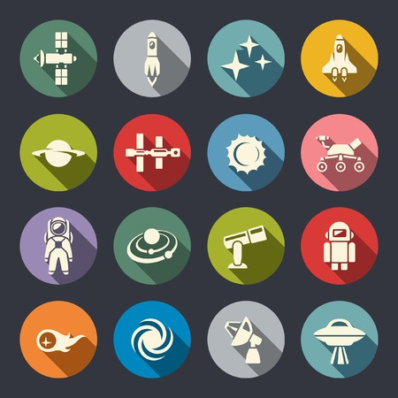 solar system: Space icon set