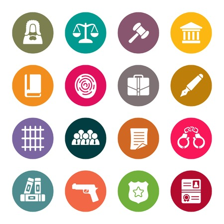legal document: Law icon set