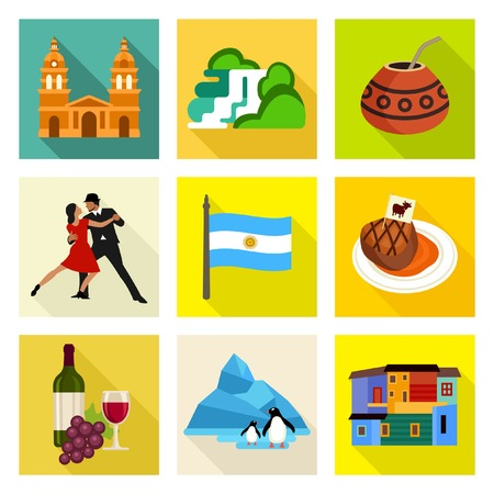 argentina flag: Argentina icon set