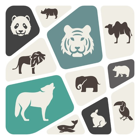 animaux zoo: Animaux fond