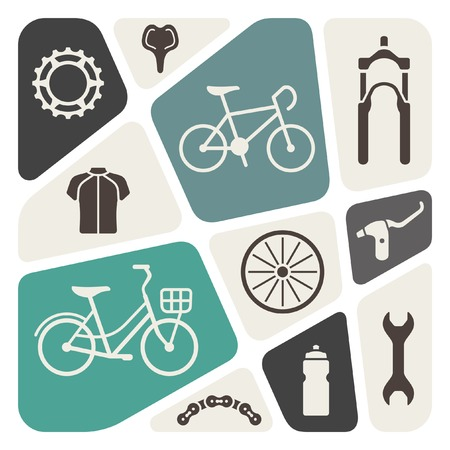 bike: Bicycle icon set