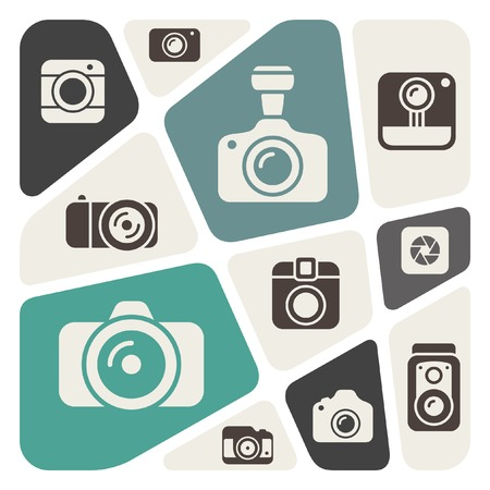 journalistic: Background with different camera design