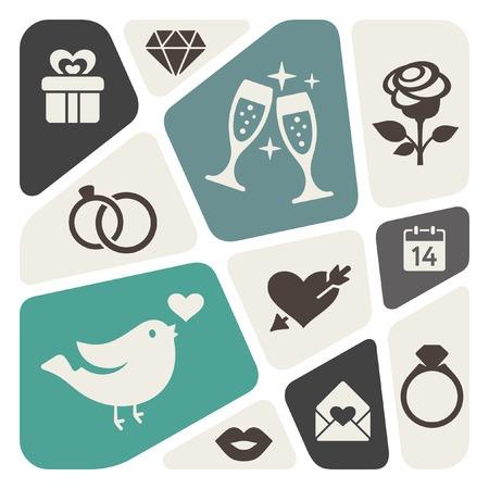 Love theme background Illustration