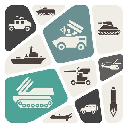 war tank: Fondo del tema militar Vectores