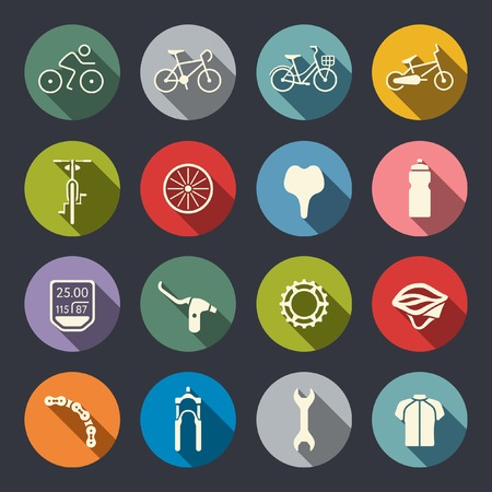 bike: Bicycle icon set