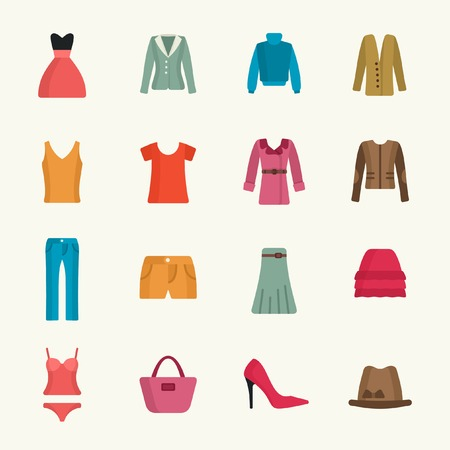 kleding icon set