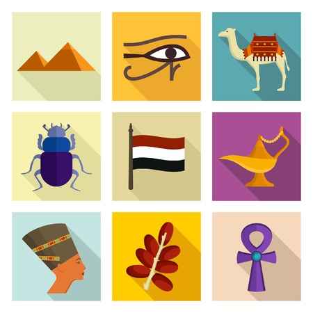 flag of egypt: Egipto icono de conjunto