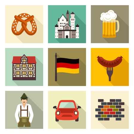 Duitsland pictogrammen Stock Illustratie