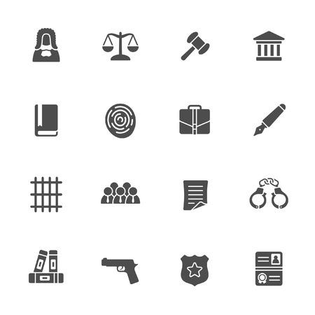 law icon set