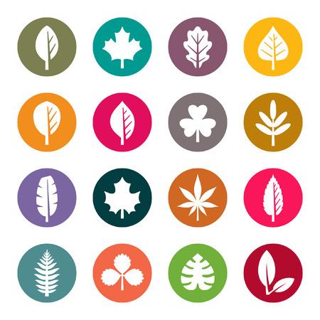 Leaf icon set Illustration