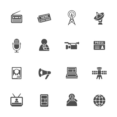 Mass media icon set
