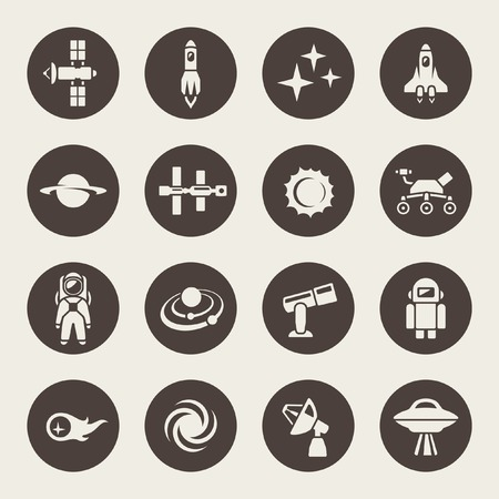 space station: Space icon set