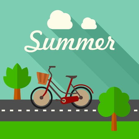global village: Summer vector illustration