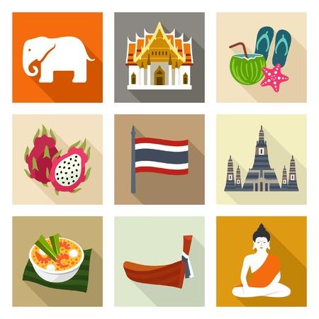 Icônes Thaïlande Banque d'images - 40239563