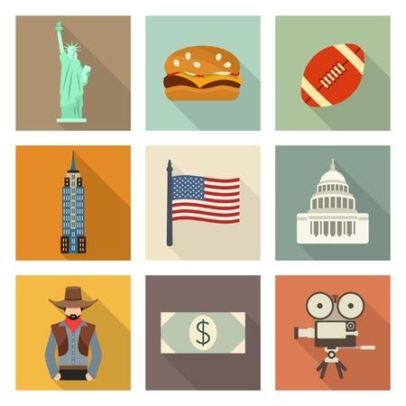west usa: USA icons