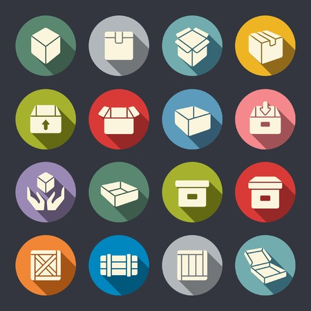simple store: box icons