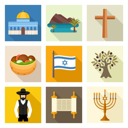 israeli: Israel icon set Illustration