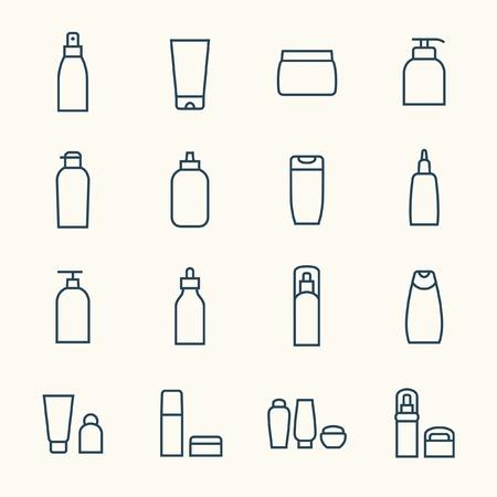 Cosméticos conjunto de iconos