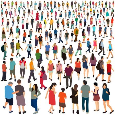 人: 人們。矢量插圖。