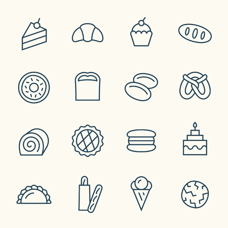 flan: bakery icons Illustration