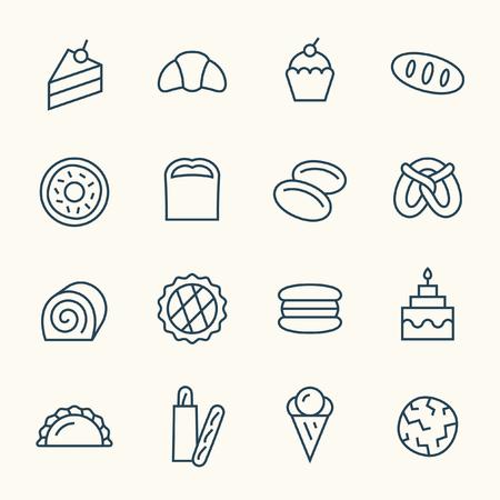 bakery icons Illustration