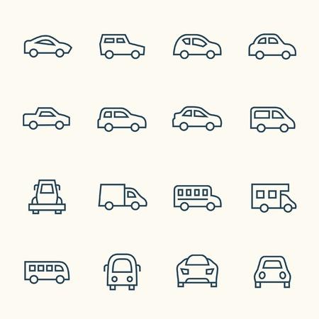coche iconos Ilustración de vector