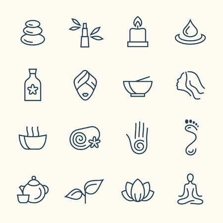relaxation: spa icons Illustration